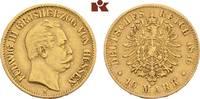 10 Mark 1876. Hessen Ludwig III., 1848-1877. Sehr schön  345,00 EUR  zzgl. 5,90 EUR Versand