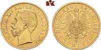 20 Mark 1881. Reuss Jüngerer Linie Heinrich XIV., 1867-1913. Sehr schön... 6475,00 EUR kostenloser Versand
