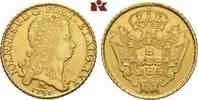12.800 Reis 1731 M, Minas Gerais. BRASILIEN Johann V., 1706-1750. Fast ... 5675,00 EUR kostenloser Versand