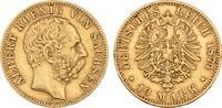10 Mark 1874. Sachsen Albert, 1873-1902. Sehr schön +  875,00 EUR  zzgl. 5,90 EUR Versand