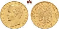 10 Mark 1888. Bayern Otto II., 1886-1913. Winz. Kratzer, fast Stempelgl... 1875,00 EUR kostenloser Versand
