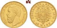 10 Mark 1876. Baden Friedrich I., 1852-1907. Vorzüglich +  375,00 EUR  zzgl. 5,90 EUR Versand