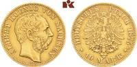 10 Mark 1875. Sachsen Albert, 1873-1902. Kl. Stempelfehler, sehr schön-... 295,00 EUR  zzgl. 5,90 EUR Versand