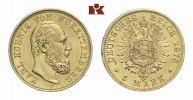5 Mark 1878. Württemberg Karl, 1864-1891. Vorzüglich  1945,00 EUR
