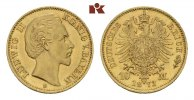REICHSGOLDMNZEN 10 Mark 1873. Fast Stempe...