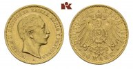 10 Mark 1907 A. Preussen Wilhelm II., 1888-1918. Vorzüglich-Stempelglanz  295,00 EUR  zzgl. 5,90 EUR Versand