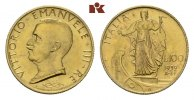 100 Lire 1932/X R, Rom. ITALIEN Victor Emanuel III., 1900-1946. Fast St... 925,00 EUR  zzgl. 5,90 EUR Versand