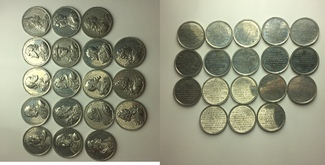 Serie von 18 Zinnmedaillen o.J. Bayern Maximilian III. Joseph, 1745-1777 vz-vz +
