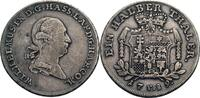 1/2 Taler, Kassel 1789 Hessen-Kassel Wilhelm IX., 1785-1821 fast ss/ss,... 95,00 EUR  zzgl. 5,90 EUR Versand
