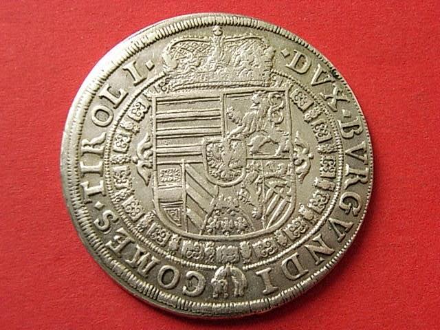 Taler 1632 Hall Habsburg vzgl, winzige Rk.
