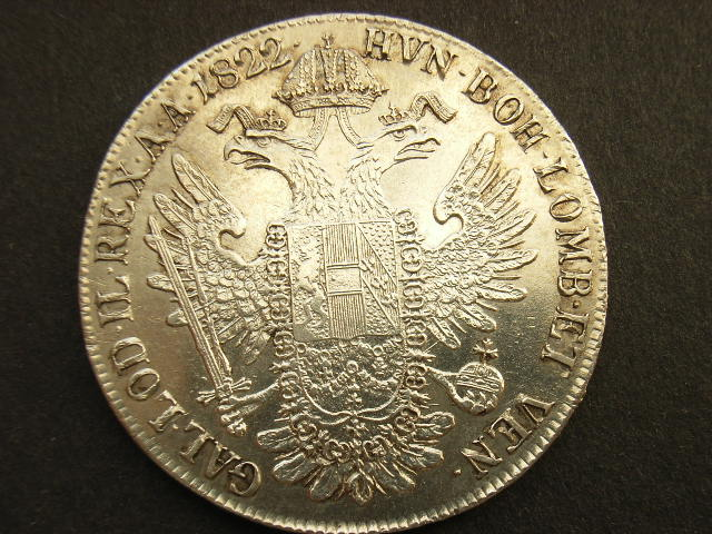 1 Taler 1822 E Habsburg ss+/vz+