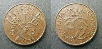 1 Cent ( 5 Bit ) 1905 Dänisch Westindien  ss+  35,00 EUR  zzgl. 4,00 EUR Versand