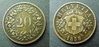 20 Rappen 1858 Schweiz  ss, kleine DS  35,00 EUR  zzgl. 4,00 EUR Versand