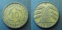 10 Reichspfennig 1928 G Weimaer Republik  ss, rau  125,00 EUR kostenloser Versand