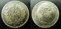 1/4 Franc 1845 Frankreich  vzgl  50,00 EUR  zzgl. 4,00 EUR Versand