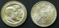 3 Mark Silberhochzeit 1911 Württemberg  fstgl  50,00 EUR  zzgl. 4,00 EUR Versand