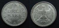 3 Mark  1924 A Weimaer Republik  fstgl, kl. Rf.   50,00 EUR  zzgl. 4,00 EUR Versand