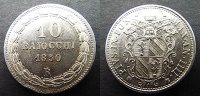 10 Bajocchi 1850 R Italien Vatikan  vzgl/stgl  65,00 EUR