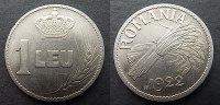 1 Leu Probe 1922 Rumänien  stgl  250,00 EUR  zzgl. 4,00 EUR Versand