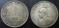 1 Rupie 1910 Deutsch Ostafrika  ss  60,00 EUR  zzgl. 4,00 EUR Versand