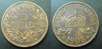 5 Heller 1908 Deutsch Ostafrika  ss+  70,00 EUR  zzgl. 4,00 EUR Versand