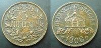 5 Heller 1908 Deutsch Ostafrika  vf  65,00 EUR  zzgl. 4,00 EUR Versand