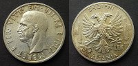 5 Lek 1939 Albanien  fstgl  45,00 EUR  zzgl. 4,00 EUR Versand