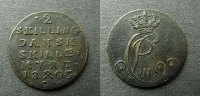 2 Skilling 1803 Dänemark  ss  35,00 EUR