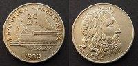20 Drachmai 1930 Griechenland  fstgl  85,00 EUR  zzgl. 4,00 EUR Versand