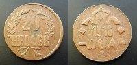 20 Heller 1916 T Deutsch Ostafrika  ss+  50,00 EUR  zzgl. 4,00 EUR Versand