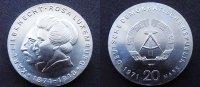 20 Mark Luxemburg 1971 DDR  stgl  70,00 EUR