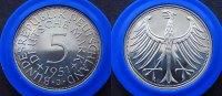 5 Mark  1951 J BRD  PP  350,00 EUR  zzgl. 4,00 EUR Versand