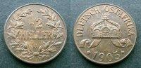 1/2 Heller 1905 J Deutsch Ostafrika  fstgl  70,00 EUR  zzgl. 4,00 EUR Versand