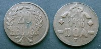 20 Heller 1916 Deutsch Ostafrika  fvz  50,00 EUR  zzgl. 4,00 EUR Versand