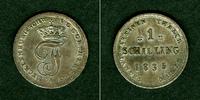 1835 Mecklenburg Mecklenburg Schwerin 1 Schilling 1835  vz  selten vz  49,80 EUR  zzgl. 3,90 EUR Versand