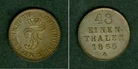1855 Mecklenburg Mecklenburg Schwerin 1/48 Taler 1855 A  vz-st vz-stgl.  34,80 EUR  zzgl. 3,90 EUR Versand