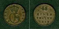 1838 Mecklenburg Mecklenburg Strelitz 1/48 Taler 1838  ss  selten ss  29,80 EUR  zzgl. 3,90 EUR Versand