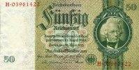 1933 Drittes Reich, Reichsbank 50 REICHSMARK 1933  Ro.175d  Kriegsdruc... 29,80 EUR  zzgl. 3,90 EUR Versand