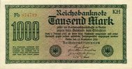 1922 Geldscheine Inflation 1919-1924 1000 MARK 1922  Ro.75o/F75a  I BA... 13,80 EUR  zzgl. 3,90 EUR Versand