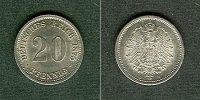 1875 Kleinmünzen 20 Pfennig DEUTSCHES REICH 20 Pfennig 1875 D  f.stgl.... 49,80 EUR  zzgl. 3,90 EUR Versand