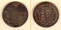 Sachsen-Gotha-Altenburg  Sachsen Gotha und Altenburg 3 Pfennige 1761  ss-vz  selten