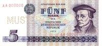 1975 Staatsbank der DDR 1971-1989 DDR: 5 MARK 1975  Ro.361 M3  Mustern... 118,00 EUR  zzgl. 3,90 EUR Versand