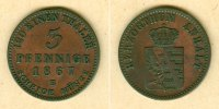 Anhalt  Anhalt 3 Pfennige 1867 B  vz