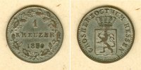 Hessen  Hessen Darmstadt 1 Kreuzer 1850  ss-vz