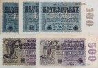 1923 Geldscheine Inflation 1919-1924 Lot: Deutsche Reichsbank 5x  Infl... 13,80 EUR  zzgl. 3,90 EUR Versand