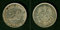 1876 Kleinmünzen 20 Pfennig DEUTSCHES REICH  20 Pfennig 1876 F  f.vz f... 17,80 EUR  zzgl. 3,90 EUR Versand