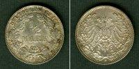 1913 Kleinmünzen 1/2 Mark Deutsches Reich 1/2 Mark 1913 D  vz-stgl. vz... 10,80 EUR