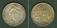 1914 Frankreich FRANKREICH 1 Franc 1914  vz-st vz-stgl.  19,80 EUR  zzgl. 3,90 EUR Versand