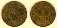 1879 Frankreich FRANKREICH 5 Centimes 1879 A  vz-st vz-stgl.!  148,00 EUR  zzgl. 5,90 EUR Versand