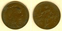 1910 Frankreich FRANKREICH 5 Centimes 1910  f.ss fast ss  14,80 EUR  zzgl. 3,90 EUR Versand